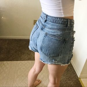 High waisted Denim shorts size 2 wild fable